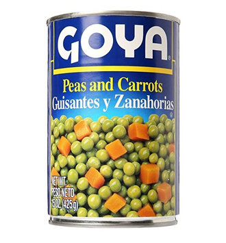 Goya® Peas and Carrots Can