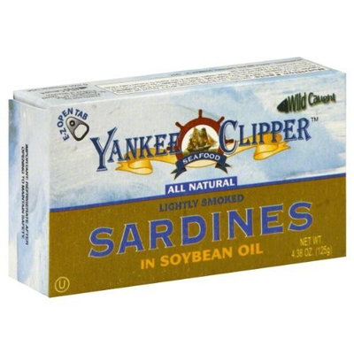 Yankee Clipper Sardines, In Soybean Oil, 4.38-Ounce (Pack of 24)
