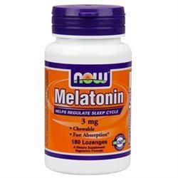 NOW Foods - Melatonin Chewable Peppermint Flavor 3 mg. - 180 Lozenges