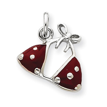 Sears Expired goldia Sterling Silver Enameled Red Bikini Top Charm