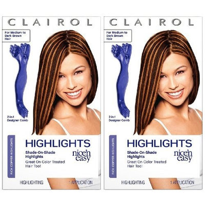 Revlon Clairol Nice n Easy Shade On Shade Highlights Rich Copper For Medium to Dark Brown Hair