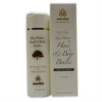 Devita Natural Skin Care Shea Butter Hand/Body Brulee Unscented 7 oz