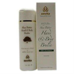 Devita Natural Skin Care Shea Butter Hand/Body Brulee Unscented 7 oz