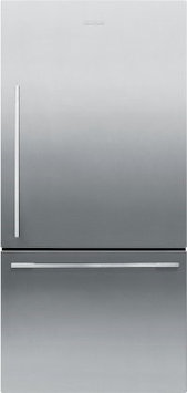 Fisher & Paykel Fisher Paykel RF170WDRX5 17.0 Cu. Ft. Stainless Steel Counter Depth Bottom Freezer Refrigerator - Energy Star - Right Hinge