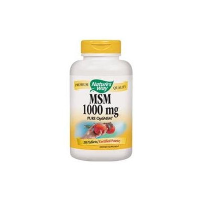 tures Way Nature's Way MSM 1000 mg Dietary Supplement Tablets