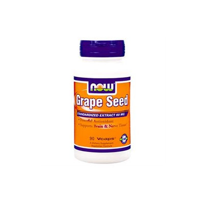 NOW Foods Grape Seed Antioxidant, 60mg, Vegetarian Capsules, 90 ea