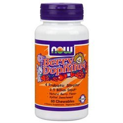 NOW Foods Berrydophilus Chewables, Natural Berry - 1 ct.