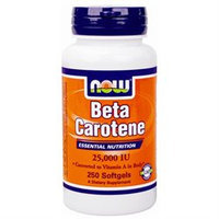 NOW Foods - Beta Carotene 25000 IU - 250 Softgels