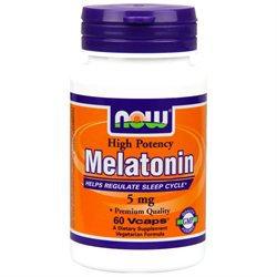 NOW Foods - Melatonin High Potency 5 mg. - 60 Vegetarian Capsules