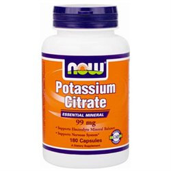 NOW Foods - Potassium Citrate Essential Mineral 99 mg. - 180 Capsules