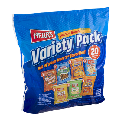 Herr's Pack a Snack Variety Pack - 20 CT
