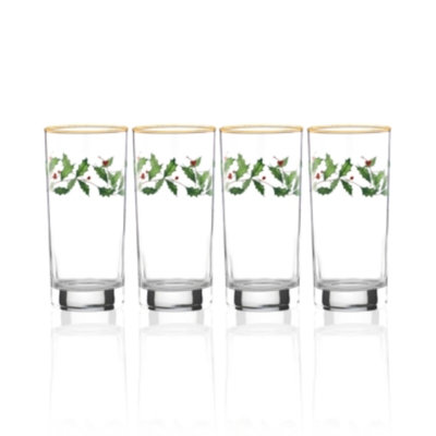 Lenox Holiday Set of 4 Highball Glasses