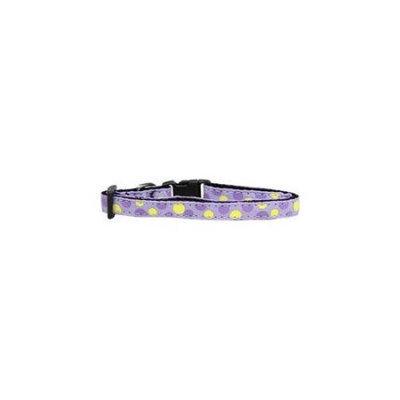 Ahi Confetti Dots Nylon Collar Lavender Cat Safety