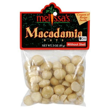 Melissa's Macadamia Nuts, Raw Out of Shell, 3-Ounce Bags (Pack of 6)
