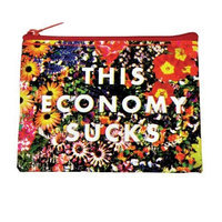 Poster Revolution Blue Q This Economy Sucks Recycled Coin Purse