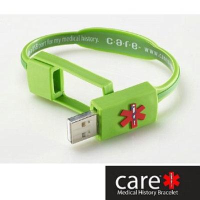 Care Medical History Bracelet Green