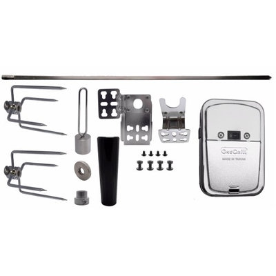 One Grill Square Rotisserie Spit Kit - 37 inch
