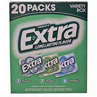 Wrigley's Extra 20 Pack Sugar Free Gum - Mint Variety Box