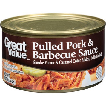 Great Value Pulled Pork & Barbecue Sauce, 12 oz