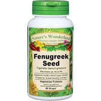 Nature's Wonderland Fenugreek Seed Herbal Supplement Capsules, 800 mg, 60 Count Bottle