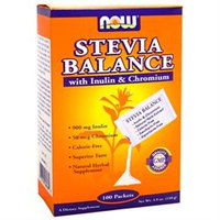 NOW Foods - Stevia Balance with Inulin and Chromium - 100 Packets
