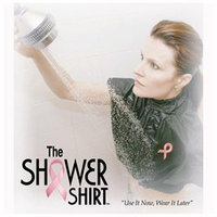Peerless Industries Shower Shirt 201026 Lxlw White Large To Xl Post Mastectomy