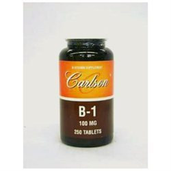 Carlson Laboratories B-1 100 MG - 250 Tablets - Vitamin B-1