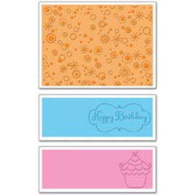 Sizzix Textured Impressions Embossing Folders, Birthday #3