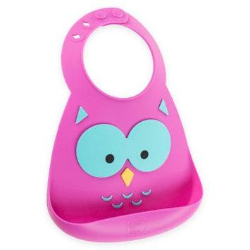 No8brands Make My Day Silicone Baby Bib (Owl)