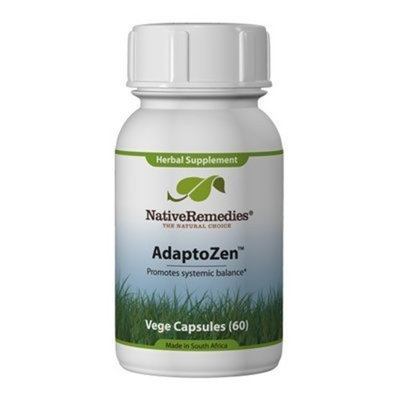 Native Remedies AdaptoZen 3 Bottles of AdaptoZen Herbal Remedy Supports Balance & Resistance to Physical, Chemical & Biological Stressors 60 Capsules in each Bottle
