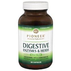Pioneer Nutritionals Pioneer Digestive Enzymes and Herbs - 60 Vegetarian Capsules