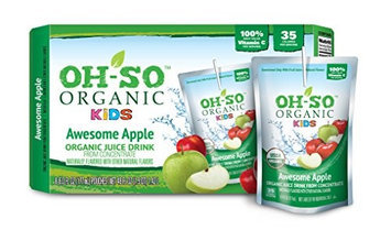 Oh-so Organic Kids JCE DRNK, OG2, AWESOME APPL, (Pack of 5)