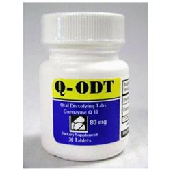Intensive Nutrition Inc. - Q-ODT Coenzyme Q10 80 mg. - 30 Tablets