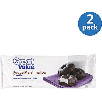 Great Value : Fudge Marshmallow Cookies