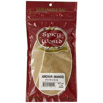 Spicy World Amchur (Mango) Powder, 7-Ounce Pouches (Pack of 6)