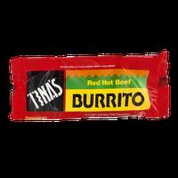 Tina's Burrito Red Hot Beef