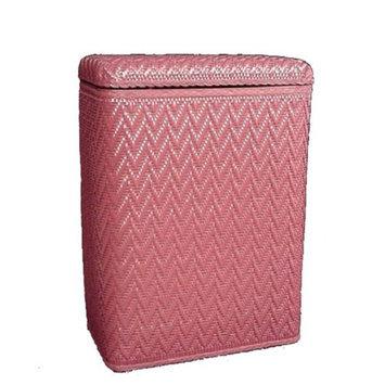Redmon Elegante Collection Decorator Color Wicker Hamper - Raspberry