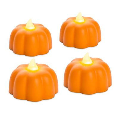 Candle Impressions 4pk. Mini Pumpkins Candles, Orange