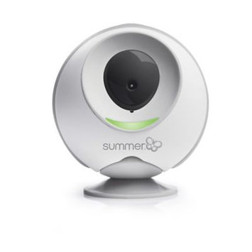 Summer Infant Liv Cam On-the-Go WiFi Direct-to-Phone or Tablet Baby Monitor (with Free App), White