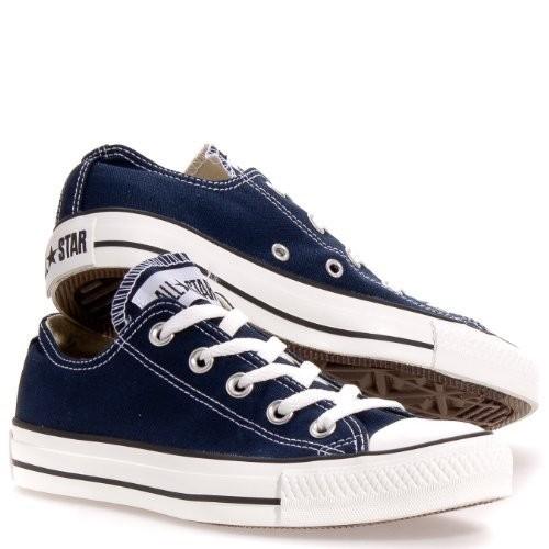 Converse Chuck Taylor All Star Lo Top Classic Green Canvas Shoes [Dress Blues, 10 B(M) US Women / 8 D(M) US Men]