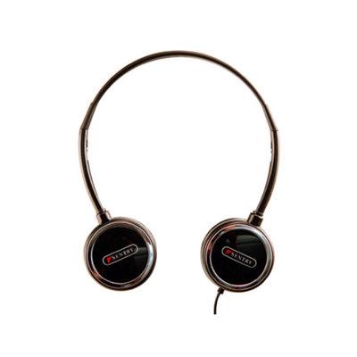 Sentry HO301 Headart Extreme Folding Earphones, Black