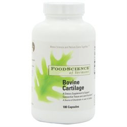Food Science Labs Bovine Cartilage 500/165 - 180 Capsules - Glucosamine & Chondroitin