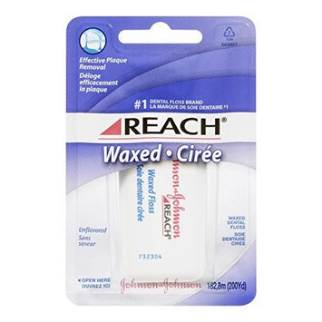Reach Dental Floss, Waxed, 200-Yard Dispensers (Pack of 6)