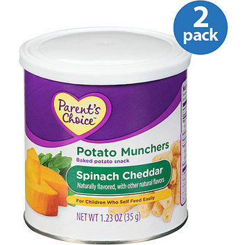 PARENT'S CHOICE LITTLE POTATO MUNCHERS SPINACH CHEDDAR TODDLER SNACK (Pack of 2)