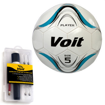 Voit Sz. 5 Player Soccer Ball w/ Ultimate Inflating Kit