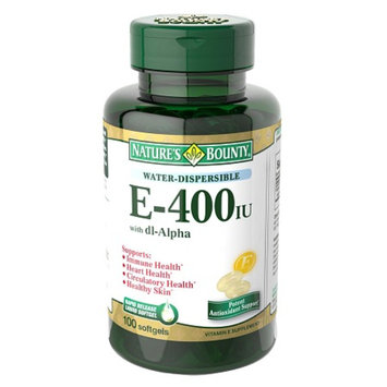 Nature's Bounty Water Dispersible Vitamin E-400 IU with dl-Alpha