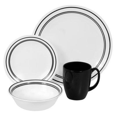 Corelle Livingware Classic Caf? Black 16-pc. Dinnerware Set
