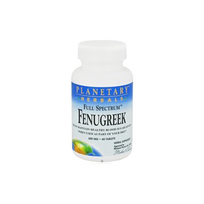 Planetary Herbals Full Spectrum Fenugreek - 600 mg - 60 Tablets