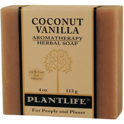 Plantlife Coconut Vanilla 100% Pure & Natural Aromatherapy Herbal Soap- 4 oz (113g)