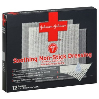 Johnson & Johnson Dressings, Soothing Non-Stick, 12 ct.